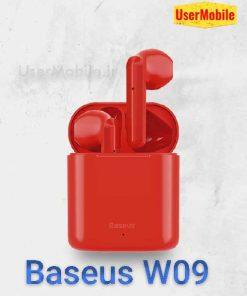 رنگ بندی هندزفری بلوتوث بیسوس مدل Enock W09 رنگ قرمز